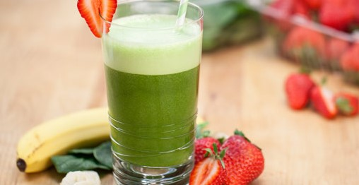 Strawberry Spinach Smoothies